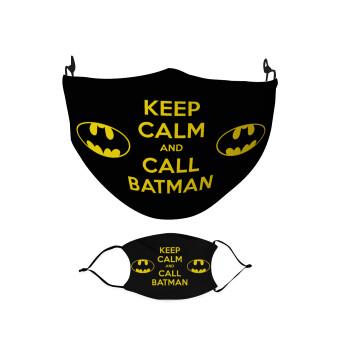 KEEP CALM & Call BATMAN, Μάσκα υφασμάτινη Ενηλίκων πολλαπλών στρώσεων με υποδοχή φίλτρου