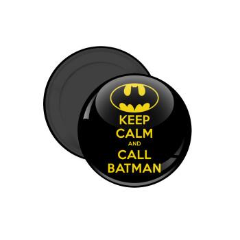 KEEP CALM & Call BATMAN, Μαγνητάκι ψυγείου στρογγυλό διάστασης 5cm