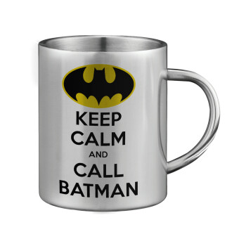 KEEP CALM & Call BATMAN, Κούπα ανοξείδωτη διπλού τοιχώματος μεγάλη 350ml