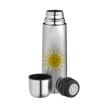 Happy sun, Ισοθερμικό παγουρί & θερμό camping από ανοξείδωτο ατσάλι, διπλού τοιχώματος, 750ml