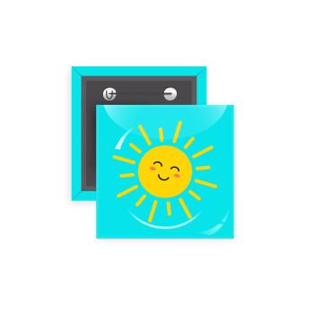 Happy sun, Κονκάρδα παραμάνα τετράγωνη 5x5cm