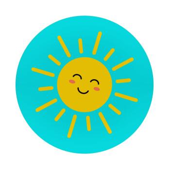 Happy sun, Mousepad Στρογγυλό 20cm