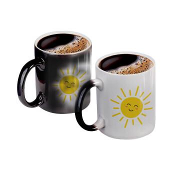 Happy sun, Κούπα Μαγική, κεραμική, 330ml που αλλάζει χρώμα με το ζεστό ρόφημα (1 τεμάχιο)