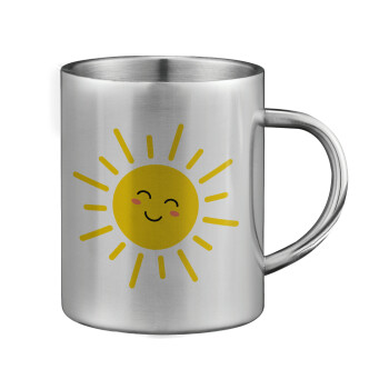 Happy sun, Κούπα ανοξείδωτη διπλού τοιχώματος μεγάλη 350ml