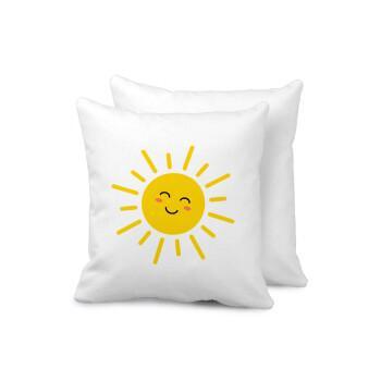 Happy sun, Μαξιλάρι καναπέ 40x40cm περιέχεται το γέμισμα