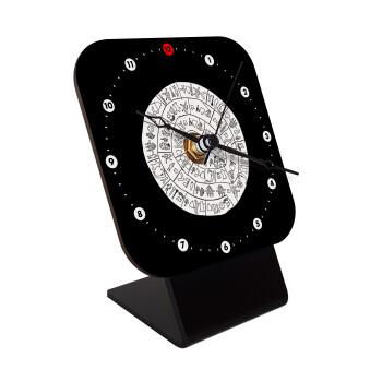Δίσκος Φαιστού, Επιτραπέζιο ρολόι ξύλινο με δείκτες (10cm)