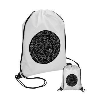 Δίσκος Φαιστού, Τσάντα πουγκί με μαύρα κορδόνια 45χ35cm (1 τεμάχιο)