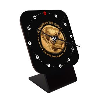 Alexander the Great, Επιτραπέζιο ρολόι ξύλινο με δείκτες (10cm)