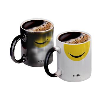 Smile Mug, Κούπα Μαγική, κεραμική, 330ml που αλλάζει χρώμα με το ζεστό ρόφημα (1 τεμάχιο)