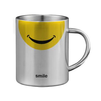 Smile Mug, Κούπα ανοξείδωτη διπλού τοιχώματος μεγάλη 350ml