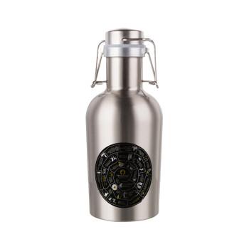 Προχίστορας, Μεταλλικό παγούρι Inox (Stainless steel) με καπάκι ασφαλείας 1L