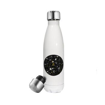 Προχίστορας, Μεταλλικό παγούρι θερμός Λευκό (Stainless steel 304), διπλού τοιχώματος, 500ml