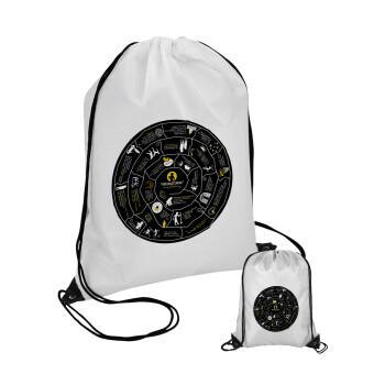 Προχίστορας, Τσάντα πουγκί με μαύρα κορδόνια 45χ35cm (1 τεμάχιο)