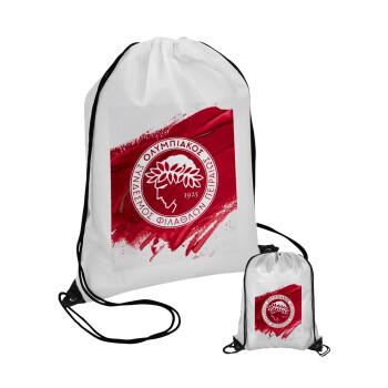 Olympiacos F.C., Τσάντα πουγκί με μαύρα κορδόνια 45χ35cm (1 τεμάχιο)