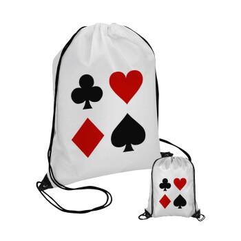 Τραπουλόχαρτα, Τσάντα πουγκί με μαύρα κορδόνια 45χ35cm (1 τεμάχιο)