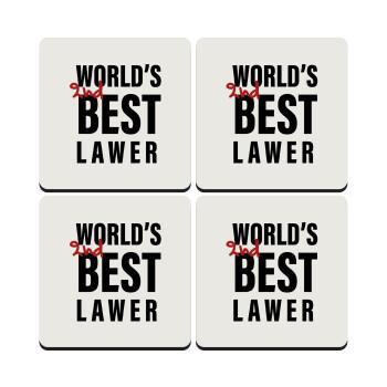 2nd, World Best Lawyer , ΣΕΤ 4 Σουβέρ ξύλινα τετράγωνα