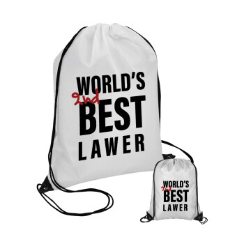 2nd, World Best Lawyer , Τσάντα πουγκί με μαύρα κορδόνια 45χ35cm (1 τεμάχιο)