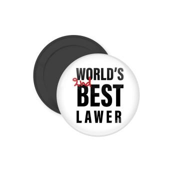 2nd, World Best Lawyer , Μαγνητάκι ψυγείου στρογγυλό διάστασης 5cm