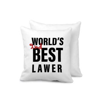 2nd, World Best Lawyer , Μαξιλάρι καναπέ 40x40cm περιέχεται το γέμισμα