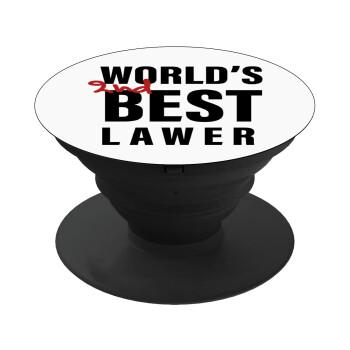 2nd, World Best Lawyer , Pop Socket Μαύρο Βάση Στήριξης Κινητού στο Χέρι