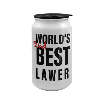 2nd, World Best Lawyer , Κούπα ταξιδιού μεταλλική με καπάκι (tin-can) 500ml