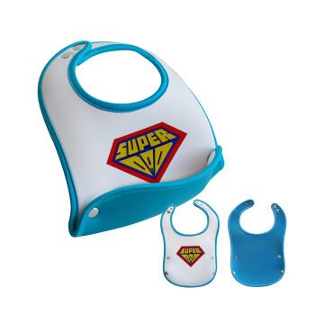 Super Dad 3D, Σαλιάρα μωρού Μπλε αγοράκι, 100% Neoprene (18x19cm)