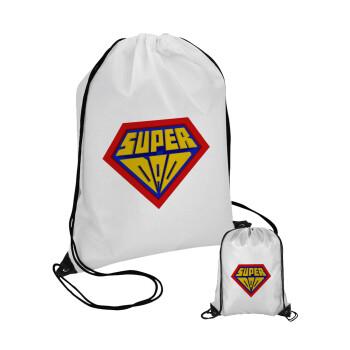 Super Dad 3D, Τσάντα πουγκί με μαύρα κορδόνια 45χ35cm (1 τεμάχιο)