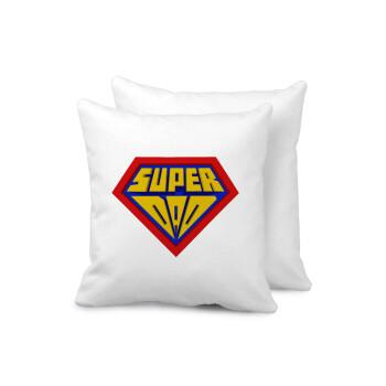 Super Dad 3D, Μαξιλάρι καναπέ 40x40cm περιέχεται το γέμισμα