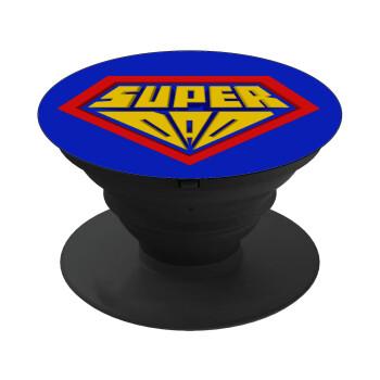 Super Dad 3D, Pop Socket Μαύρο Βάση Στήριξης Κινητού στο Χέρι