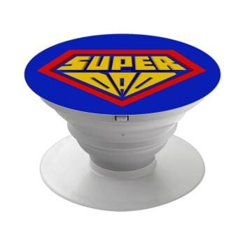Super Dad 3D, Pop Socket Λευκό Βάση Στήριξης Κινητού στο Χέρι