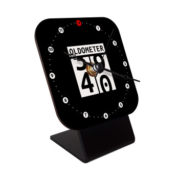 OLDOMETER, Επιτραπέζιο ρολόι ξύλινο με δείκτες (10cm)