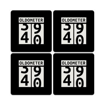 OLDOMETER, ΣΕΤ 4 Σουβέρ ξύλινα τετράγωνα