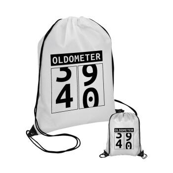 OLDOMETER, Τσάντα πουγκί με μαύρα κορδόνια 45χ35cm (1 τεμάχιο)