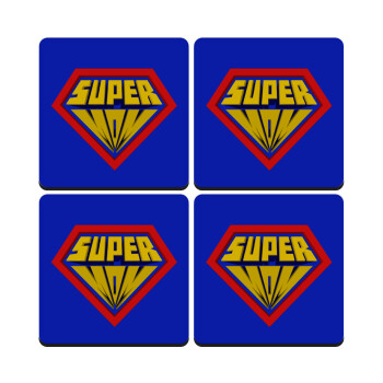 Super Mom 3D, ΣΕΤ 4 Σουβέρ ξύλινα τετράγωνα