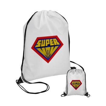 Super Mom 3D, Τσάντα πουγκί με μαύρα κορδόνια 45χ35cm (1 τεμάχιο)