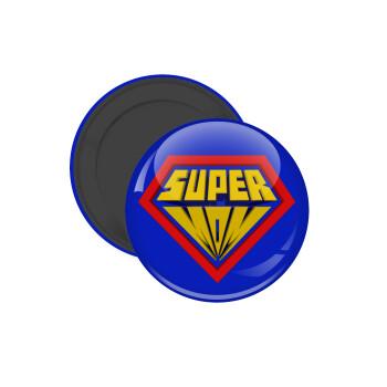 Super Mom 3D, Μαγνητάκι ψυγείου στρογγυλό διάστασης 5cm
