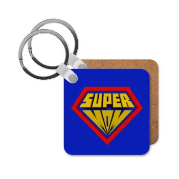 Super Mom 3D, Μπρελόκ Ξύλινο τετράγωνο MDF 5cm (3mm πάχος)