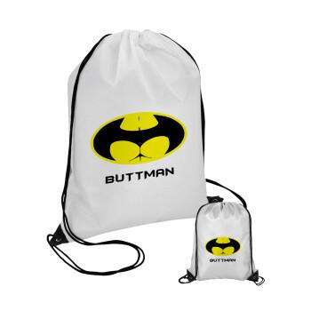 Buttman, Τσάντα πουγκί με μαύρα κορδόνια 45χ35cm (1 τεμάχιο)