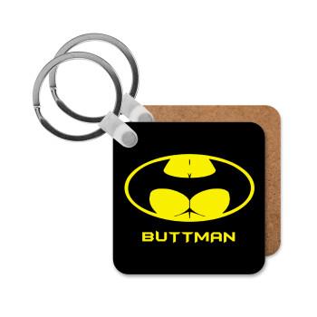Buttman, Μπρελόκ Ξύλινο τετράγωνο MDF 5cm (3mm πάχος)
