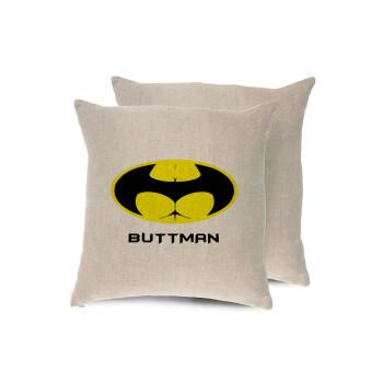 Buttman, Μαξιλάρι καναπέ ΛΙΝΟ 40x40cm περιέχεται το γέμισμα