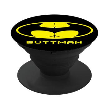 Buttman, Pop Socket Μαύρο Βάση Στήριξης Κινητού στο Χέρι