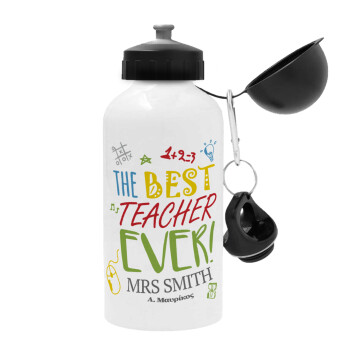 The best teacher ever!, Μεταλλικό παγούρι ποδηλάτου Λευκό 500ml