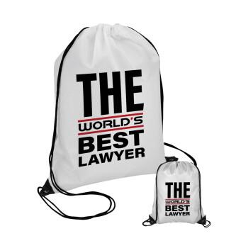 The world's best Lawyer, Τσάντα πουγκί με μαύρα κορδόνια 45χ35cm (1 τεμάχιο)
