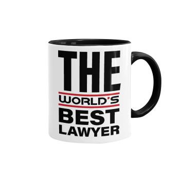 The world's best Lawyer, Κούπα χρωματιστή μαύρη, κεραμική, 330ml