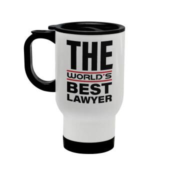 The world's best Lawyer, Κούπα ταξιδιού ανοξείδωτη με καπάκι, διπλού τοιχώματος (θερμό) λευκή 450ml