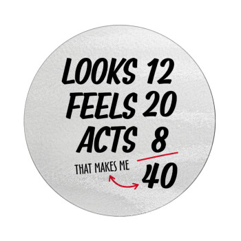 Looks, feels, acts LIKE your AGE, Επιφάνεια κοπής γυάλινη στρογγυλή (30cm)