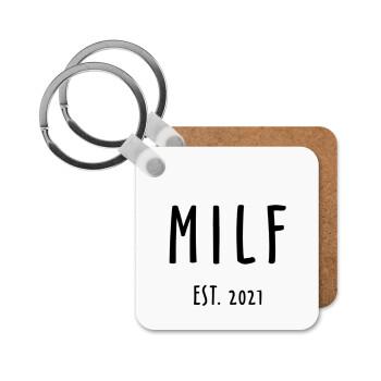 MILF, Μπρελόκ Ξύλινο τετράγωνο MDF 5cm (3mm πάχος)