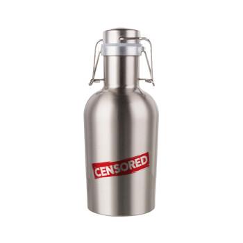 Censored, Μεταλλικό παγούρι Inox (Stainless steel) με καπάκι ασφαλείας 1L