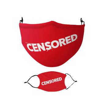 Censored, Μάσκα υφασμάτινη Ενηλίκων πολλαπλών στρώσεων με υποδοχή φίλτρου