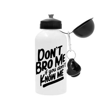 Dont't bro me, if you don't know me., Μεταλλικό παγούρι ποδηλάτου Λευκό 500ml